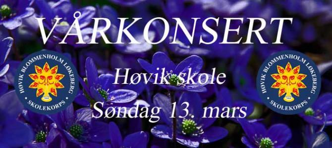 Vårkonsert 13. mars 2016